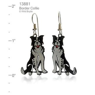 Hand Painted Border Collie Earrings